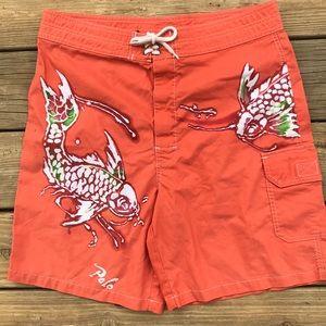 Polo Ralph Lauren Swim Trunks Board Shorts Fish 31